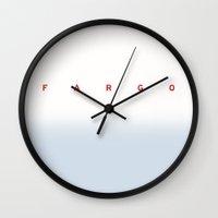 fargo Wall Clocks featuring FARGO by Spyck