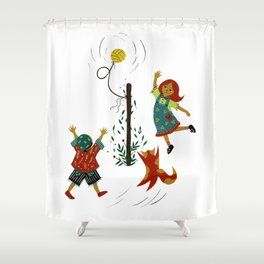Tetherball Battle Shower Curtain