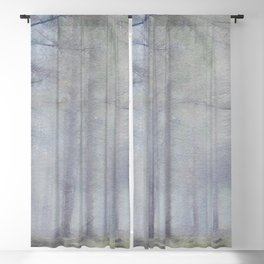 Scottish forest watercolor painting #4 Blackout Curtain