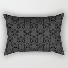 Halloween Damask Grey Rectangular Pillow