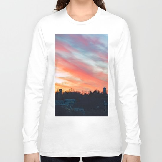 Winter sunset in Rockport Long Sleeve T-shirt