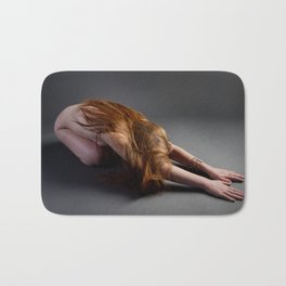 1727-PDJ Nude Redhead Bowing Down Hands Out Bath Mat