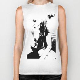 Black and white Girl Biker Tank