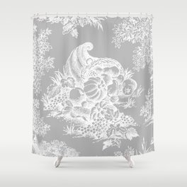 toile tradition grey Shower Curtain