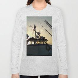 Fishing At Dawn Long Sleeve T-shirt