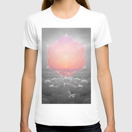 The Sun Is But A Morning Star (Mono Geometric Sunrise) T-shirt