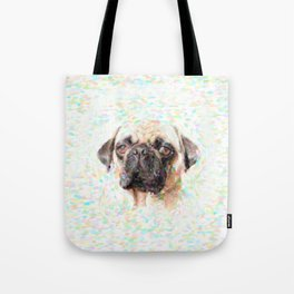 Pointillistic Pug Tote Bag