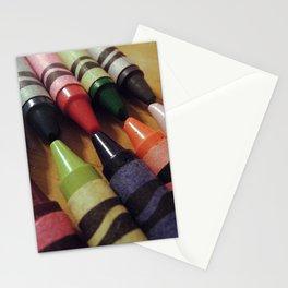 Crayon Closeup Stationery Cards