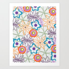 FALL FLOWERS Art Print