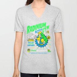 Radinium Gym - Fitness - Gym - Funny - Illustration - Nuclear Unisex V-Neck
