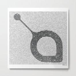 Binary Sia Metal Print