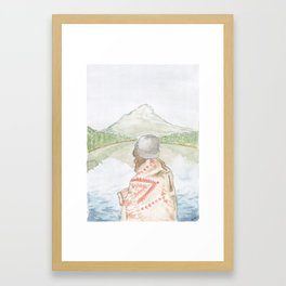 Mornings at the Lake Framed Art Print