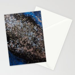 Abstract Pink and Black Galaxy Stationery Cards
