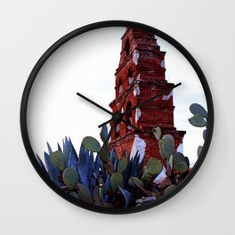 Mission in ruin - color Wall Clock