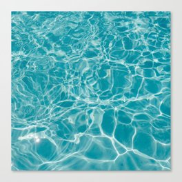 Blue Summer Water Canvas Print