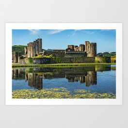 The Towers Of Caerphilly Castle Art Print