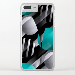 3D - abstraction -112- Clear iPhone Case