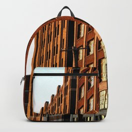 BRICK BUILDING IN THE AFTERNOON SUN - DETROIT Backpack