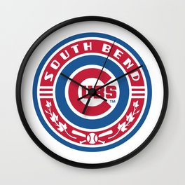 South Bend Cubs Wall Clock