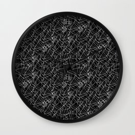 Linear Abstract Black and White Wall Clock