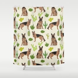 German Shepherd Cactus desert southwest dog lover gifts dog breed service dog Shower Curtain