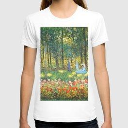 Claude Monet The Artist's Family In The Garden T-shirt