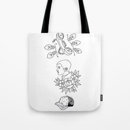 Science Fiction Character Illustration Tote Bag