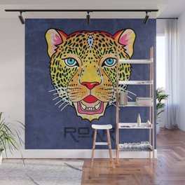 Roar / Retro Wild Cat Wall Mural