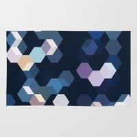 honeycomb Area & Throw Rugs featuring HONEYCOMB by ED design for fun