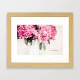 Gift Peony* Framed Art Print