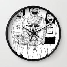 BACK OFF Wall Clock