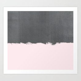 Pink Paint on Concrete Art Print