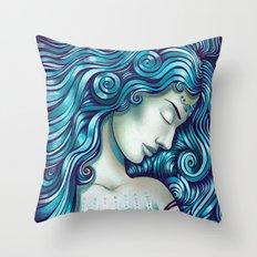 Calypso Sleeps Throw Pillow
