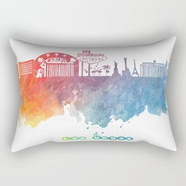Las Vegas Nevada Skyline colored Rectangular Pillow