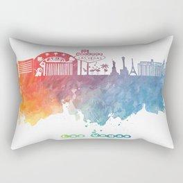 Las Vegas Nevada Skyline colored Rectangular Pillow