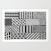 black white Art Prints featuring Black&White White&Black by Kaitlyn_Michelle_