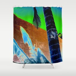 Palm Sunset Shower Curtain
