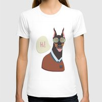 doberman T-shirts featuring Doberman by Holanes