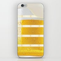 beer iPhone & iPod Skins featuring BEER by Ylenia Pizzetti