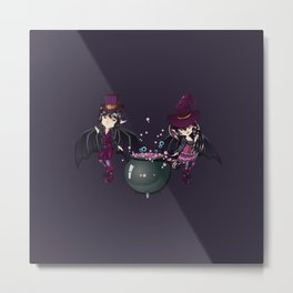 Witch and vampire Metal Print