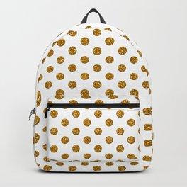 Gold Glitter Polka Dots Backpack
