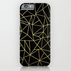 Abstraction Outline Gold on Black iPhone 6s Slim Case