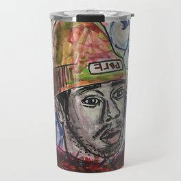 tyler,rapper,colourful,colorful,poster,wall art,fan art,music,hiphop,rap,legend,shirt,print Travel Mug