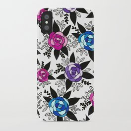 Black Rose Watercolor iPhone Case