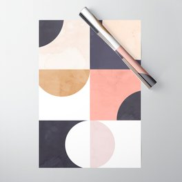 Geometric Moontime 1 Wrapping Paper