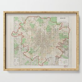 Map of Moscow (1957) Serving Tray
