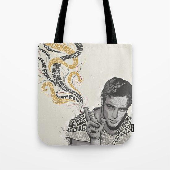 MARLON BRANDO - Quotes Art Tote Bag