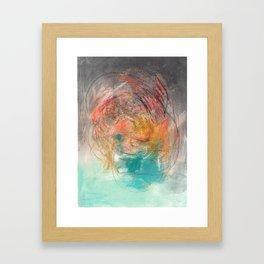 Naive - Abstract painting mixed media - luminous Framed Art Print