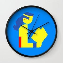 Wonder Lady Reading Wall Clock