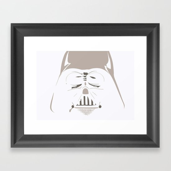 Ghost Darth Vader Framed Art Print